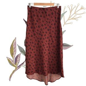 ED•IT•ED Animal Print Long Maxi Skirt